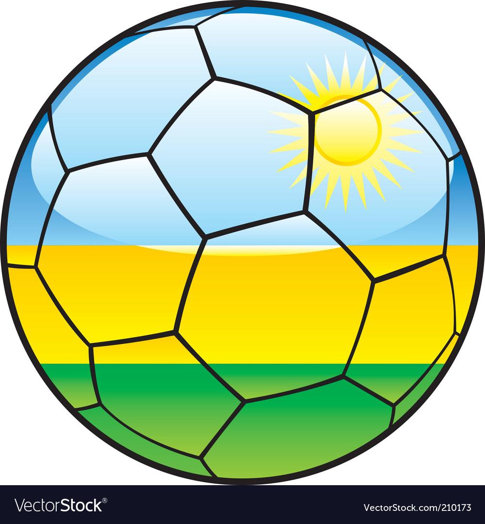 Rwanda flag on soccer ball