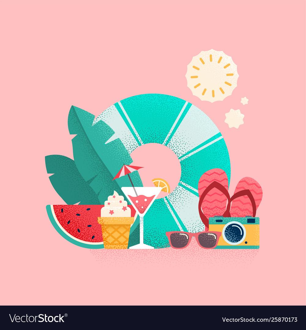Summer time colorful banner design