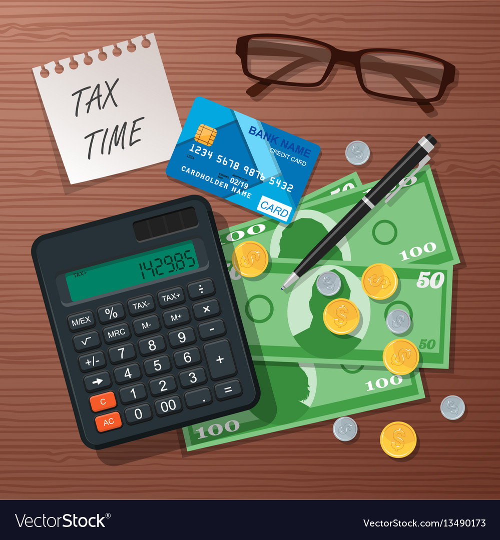 Tax time concept design element flat style