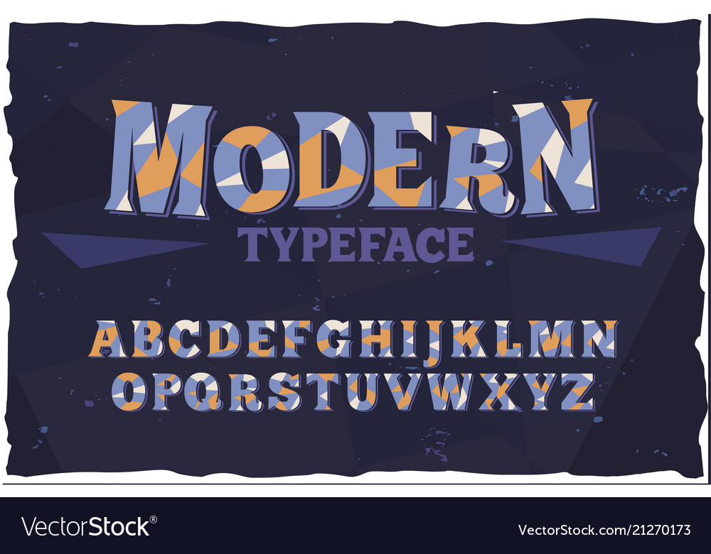 Typeface modern style font