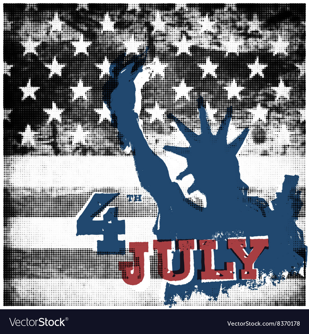 4th of july American independence day poster