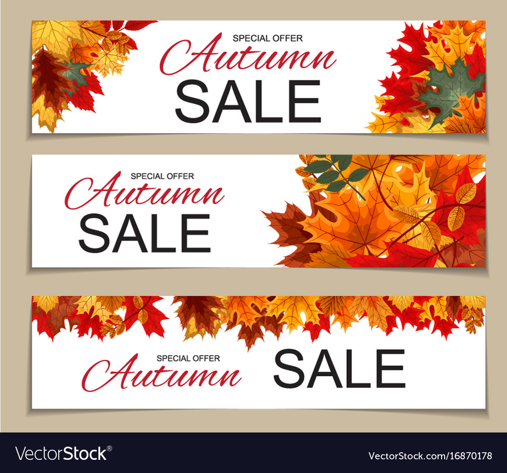 Abstract autumn sale banner