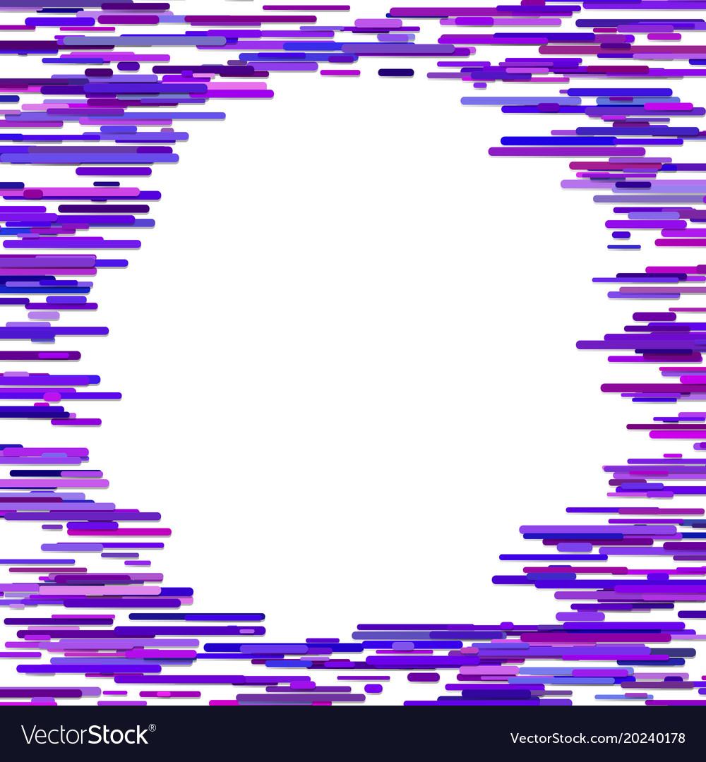 Blank irregular horizontal stripe background vector image