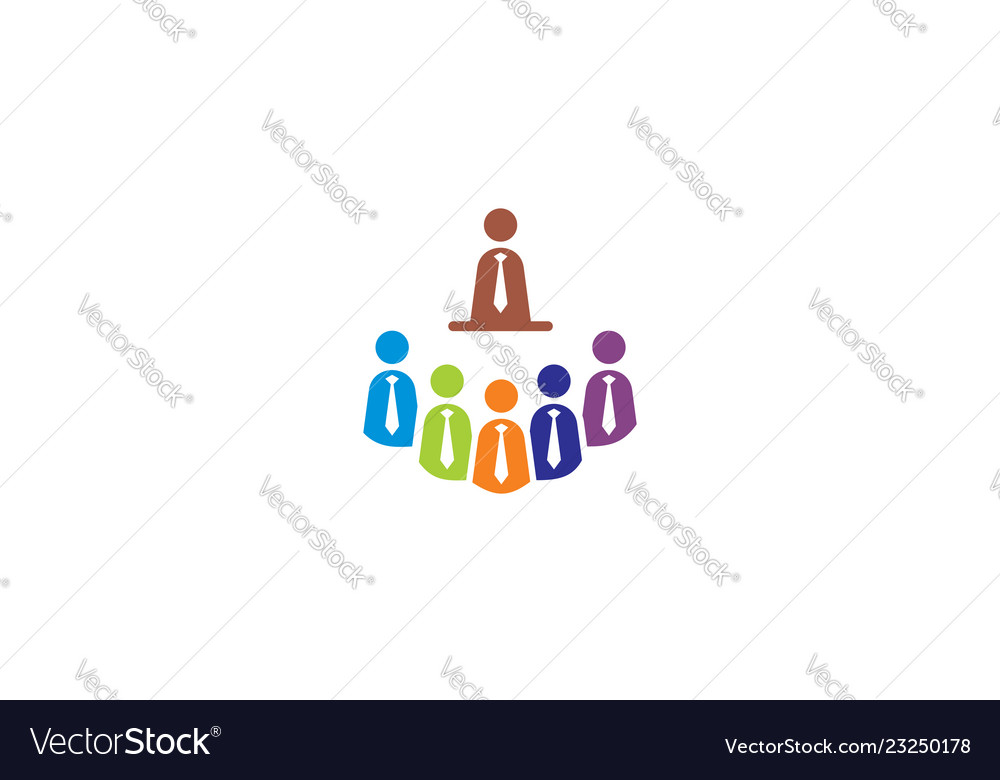Business meeting employees logo icon