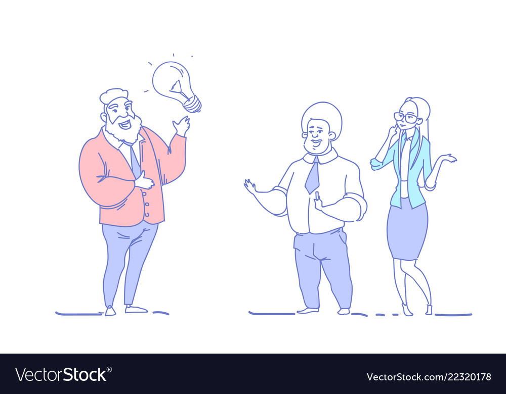Business people brainstorming inspiration new idea