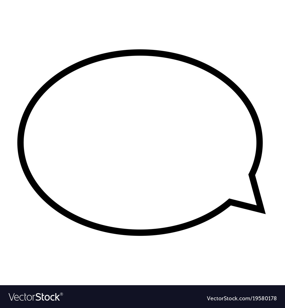 comic chat bubble royalty free vector image vectorstock