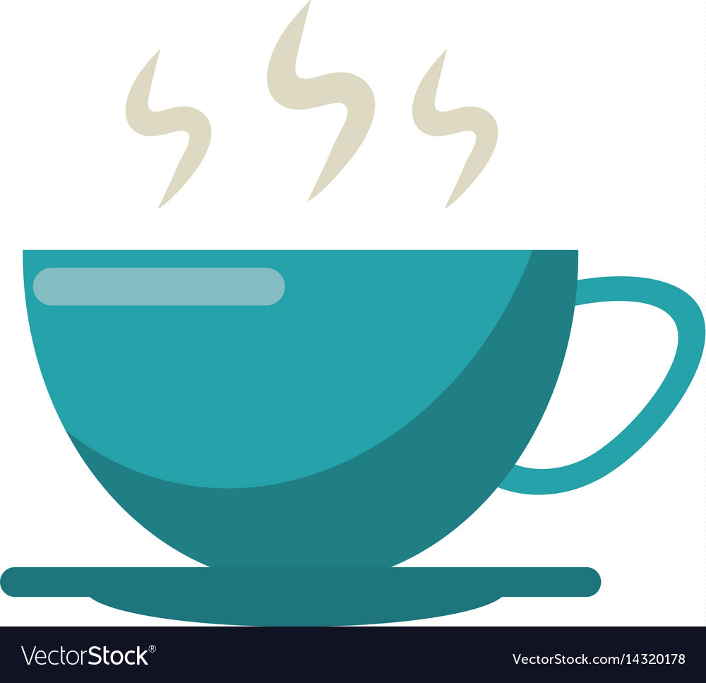 Cup of coffee smoke hot