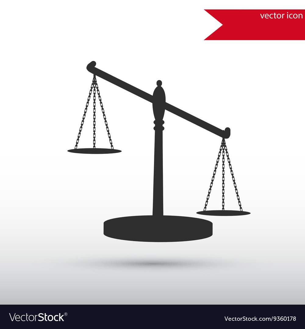 Scales of Justice Black icon and jpg Flat