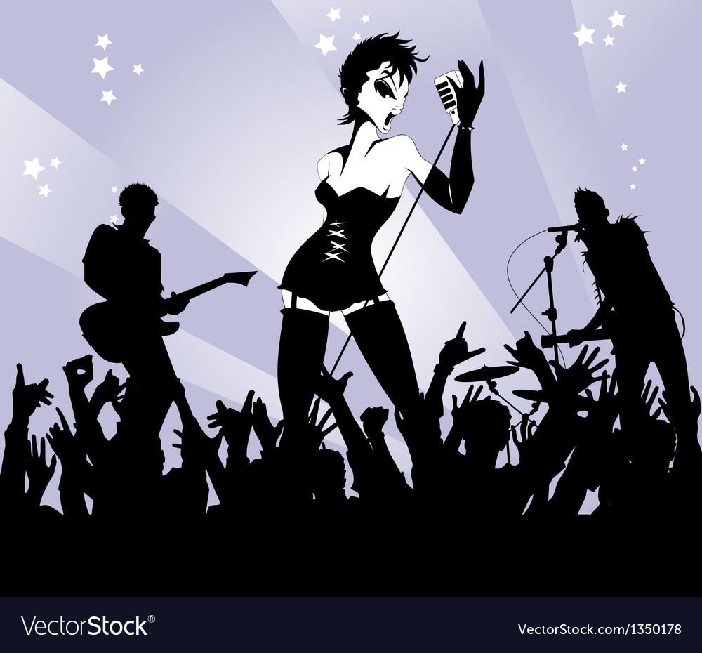Woman singer in a band