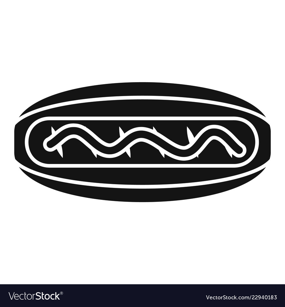 American hot dog icon simple style