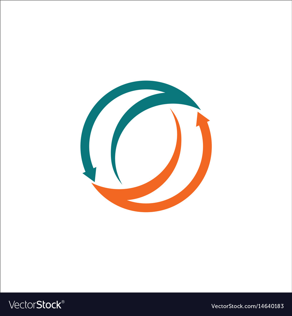 Arrow circle abstract logo vector image