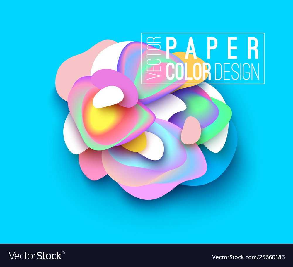 Banner layout design paper cut style