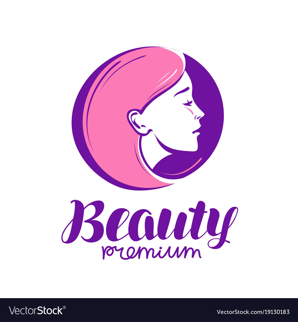 Beauty shop or salon logo makeup cosmetic spa