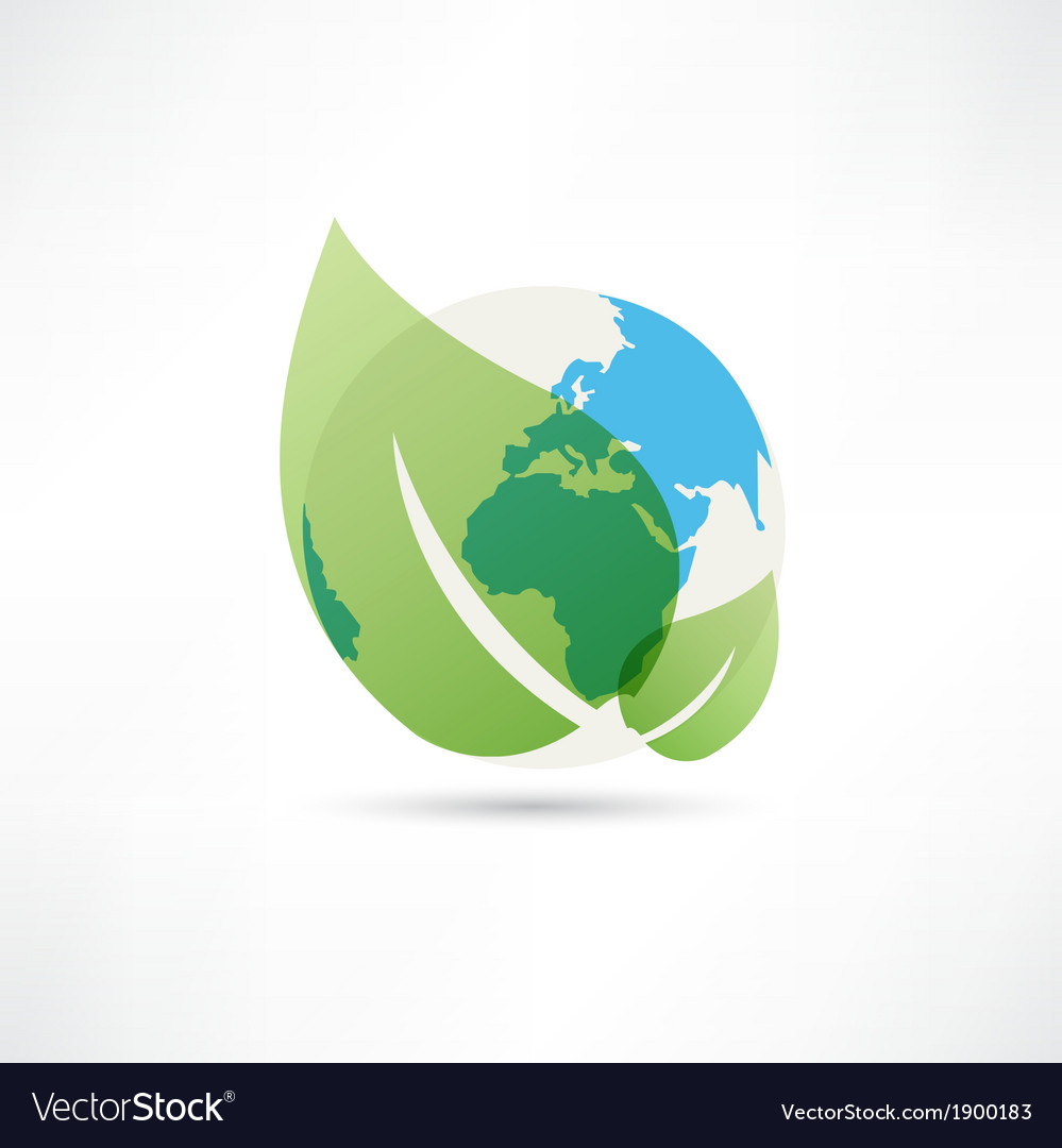 Clean planet earth icon