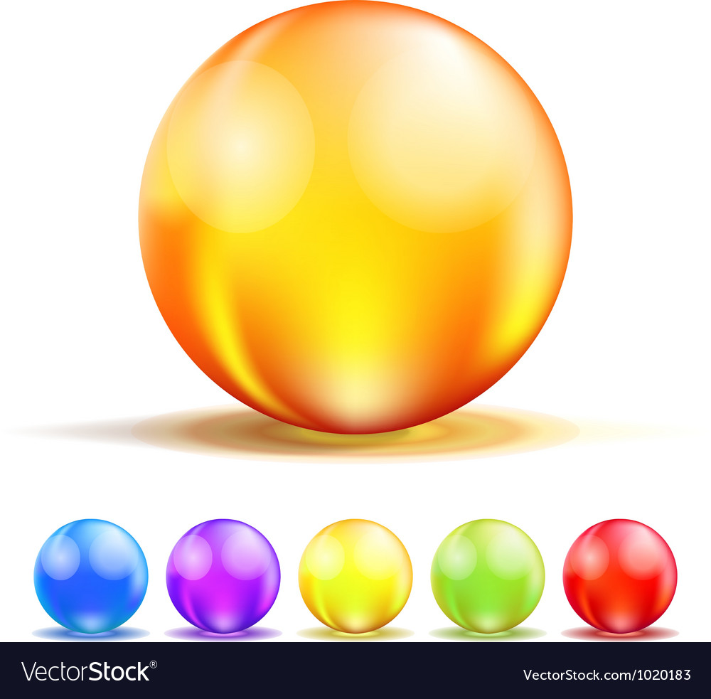 Color Glass Balls vector image
