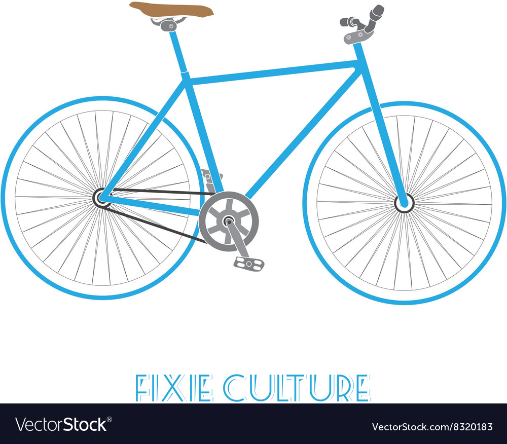 Fixed gear bicycle culture isolated