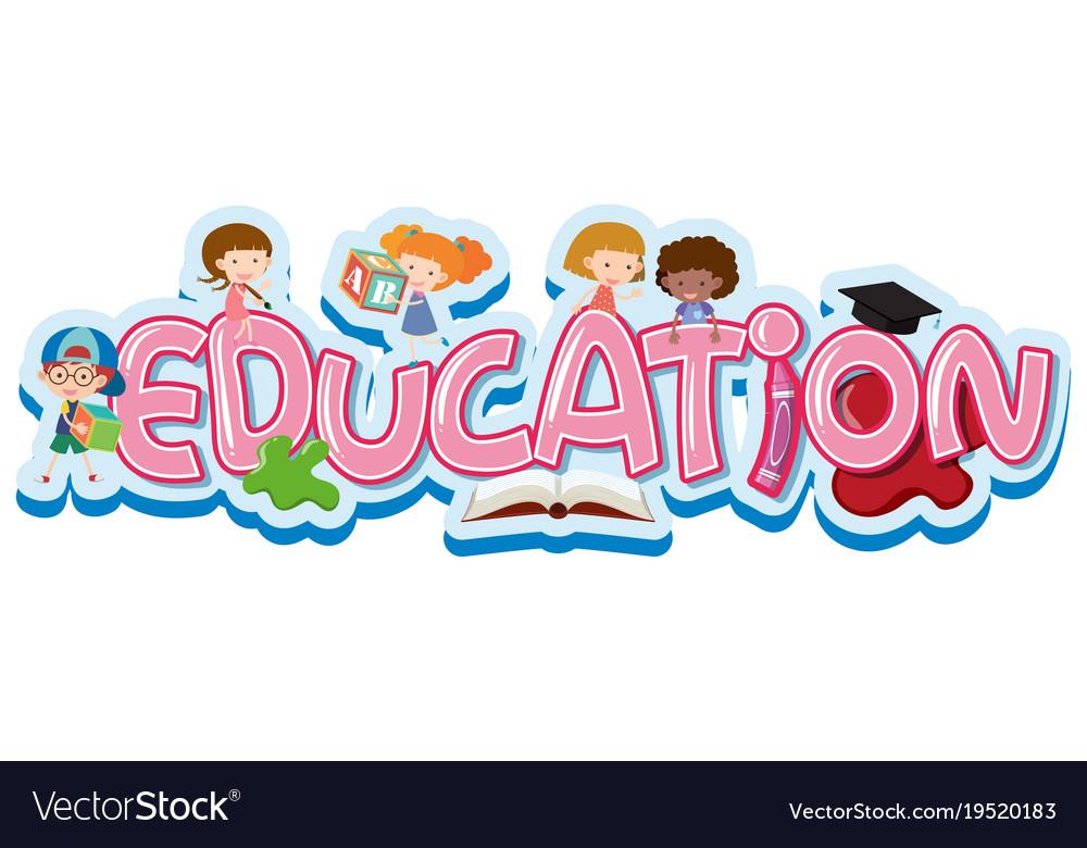 Font design for word education