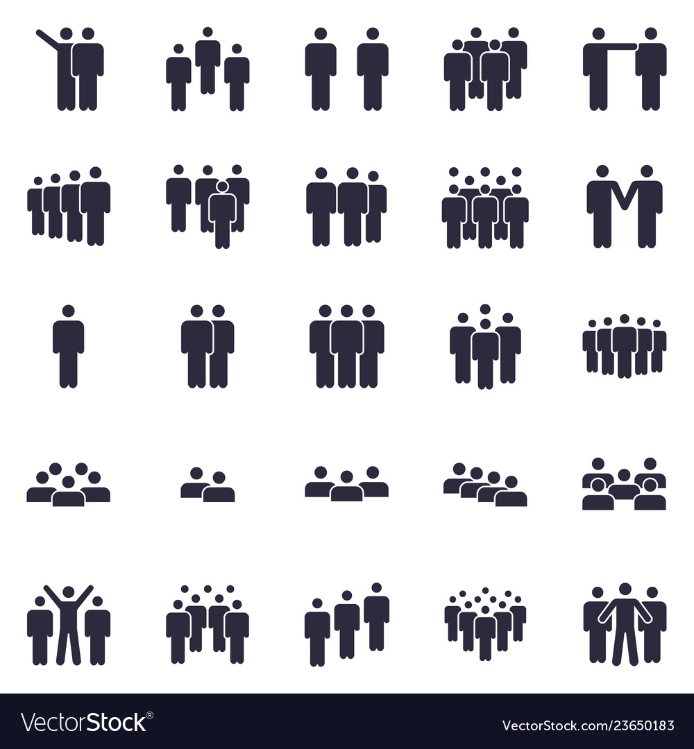 Groups of persons icon business team person