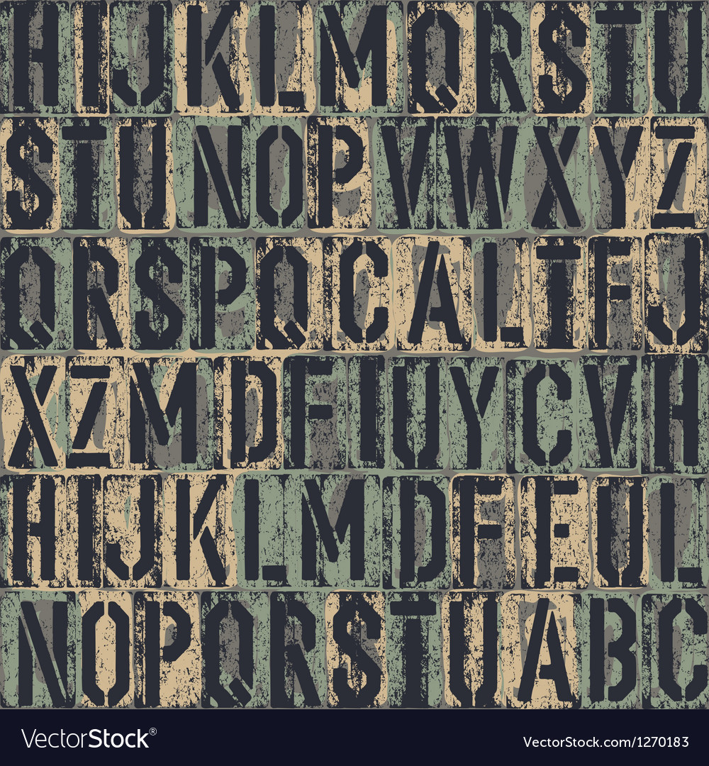 Grunge block letters background vector image