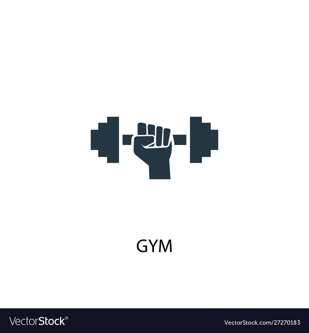 Gym icon simple element gym concept