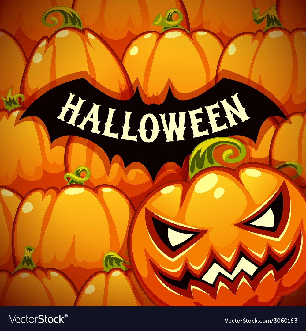 Halloween Poster With Bat Silhouette on the