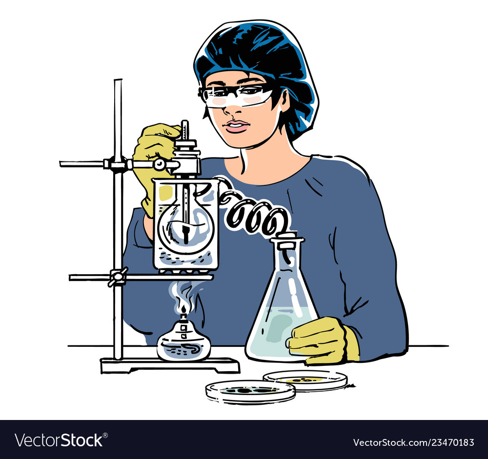 Laboratory assistant working in scientific medical