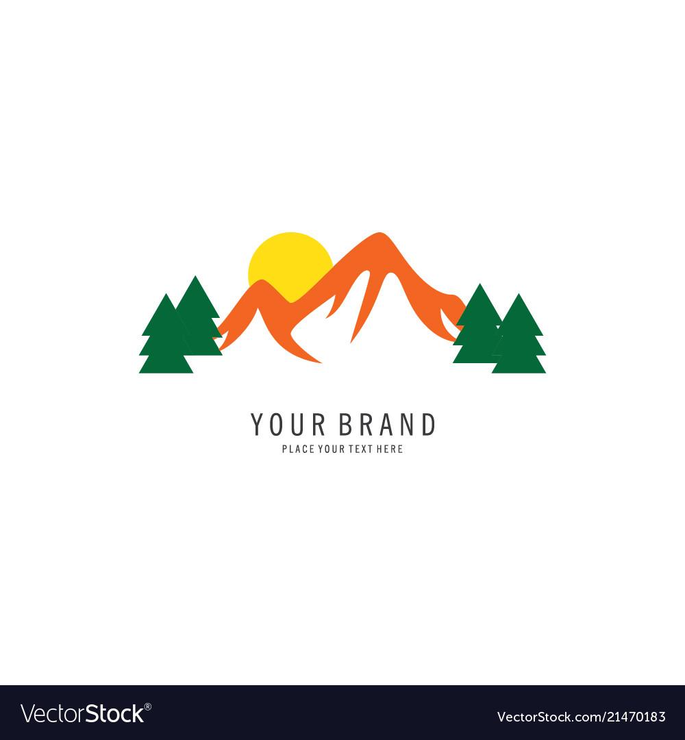 Mountain symbol logo