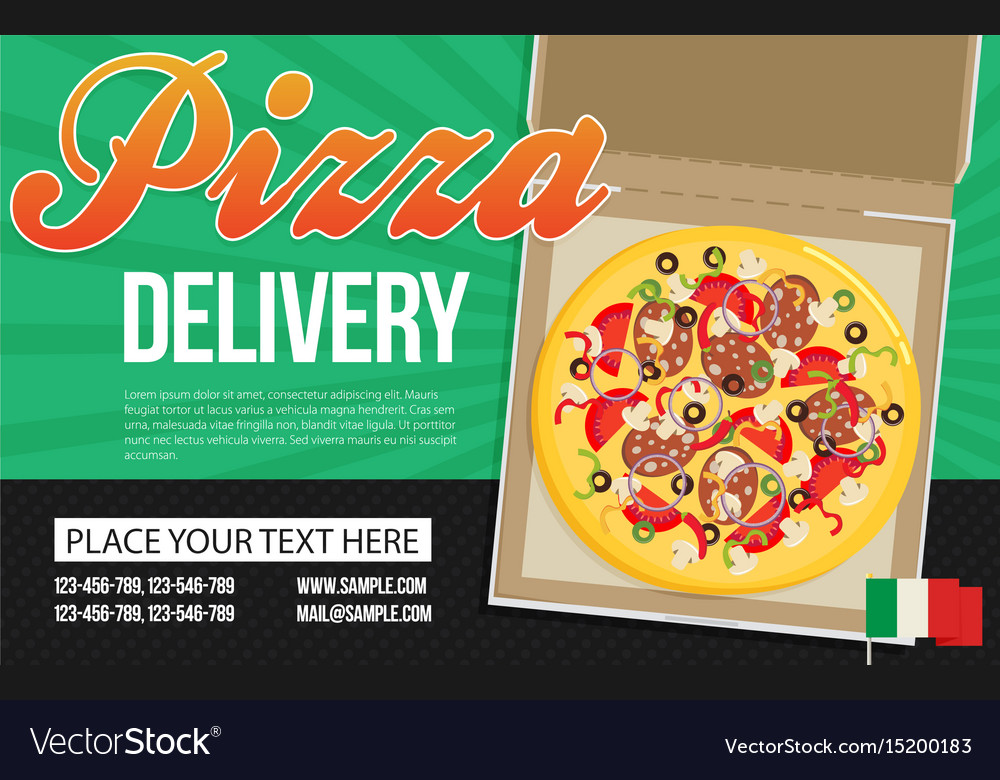 Pizza Box Advertisement Banner Pizza Box Delivery
