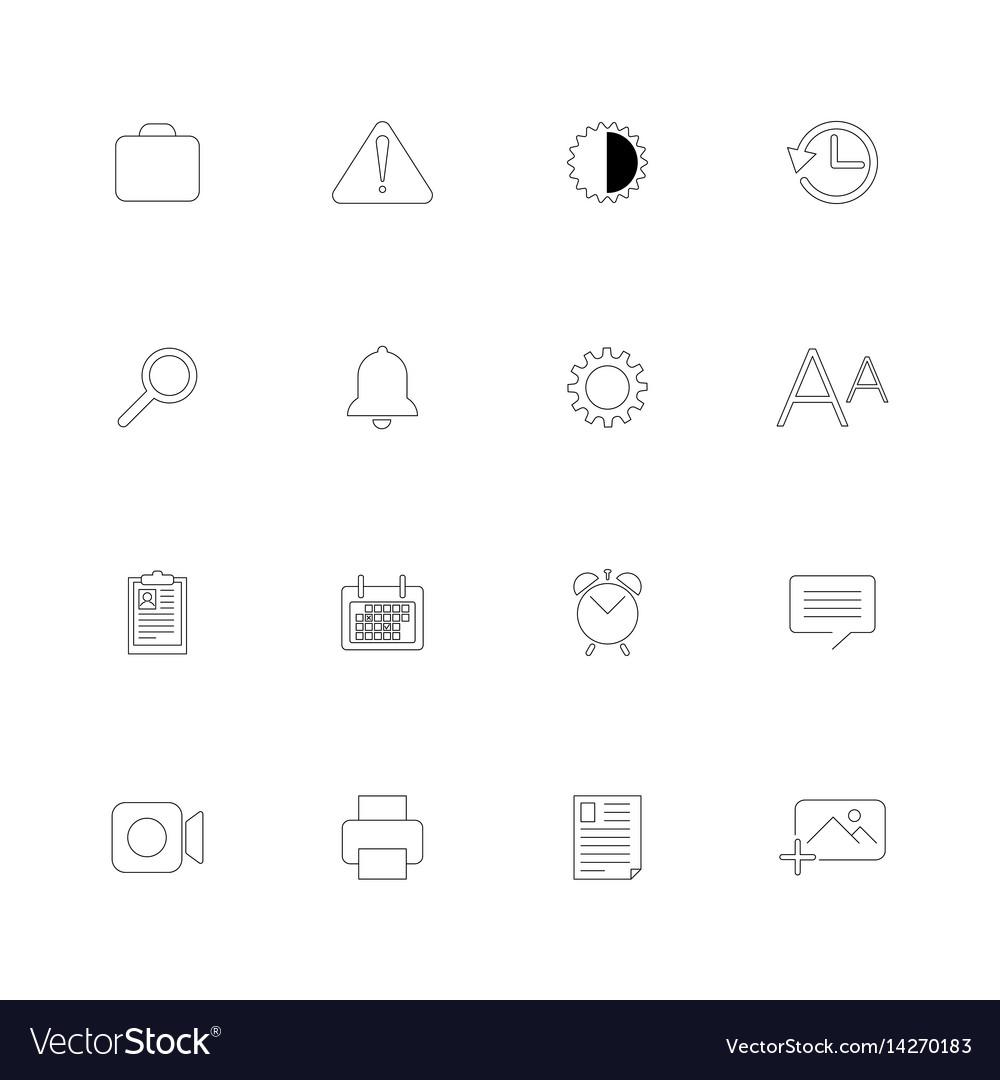 Set of 16 universal icons