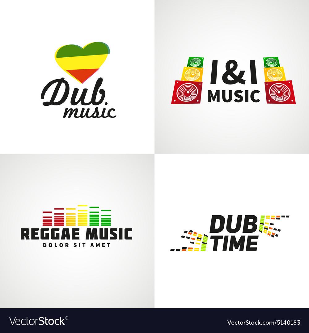Set of africa flag logo design Jamaica music
