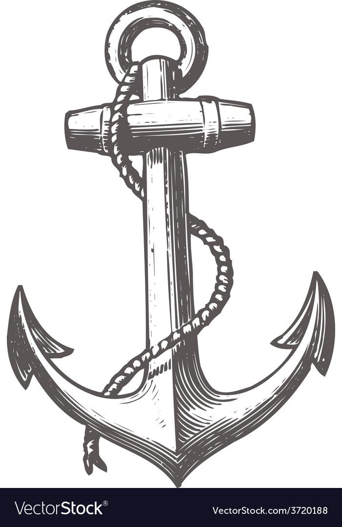 Anchor black white black-white print