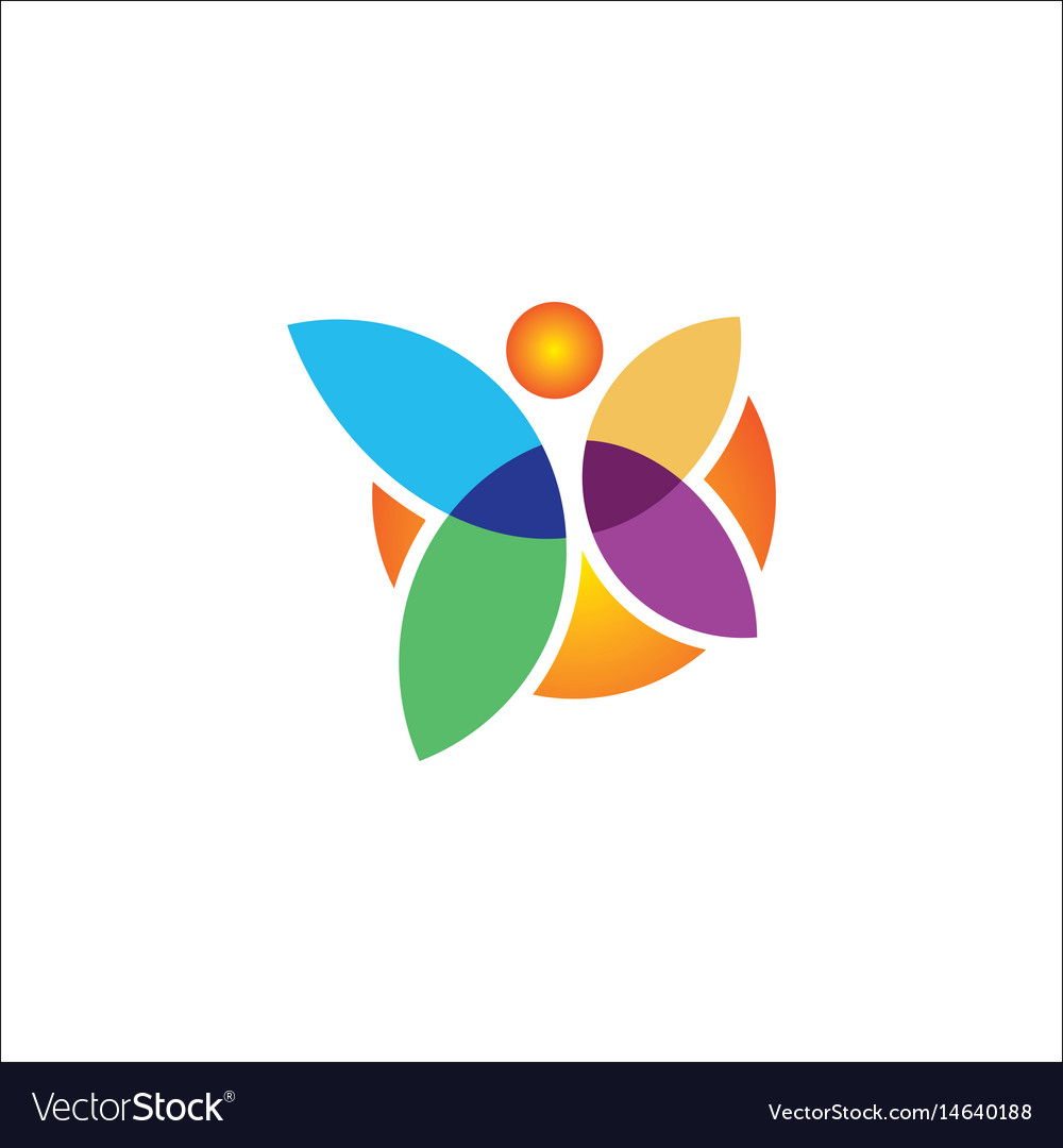 Butterfly colored logo