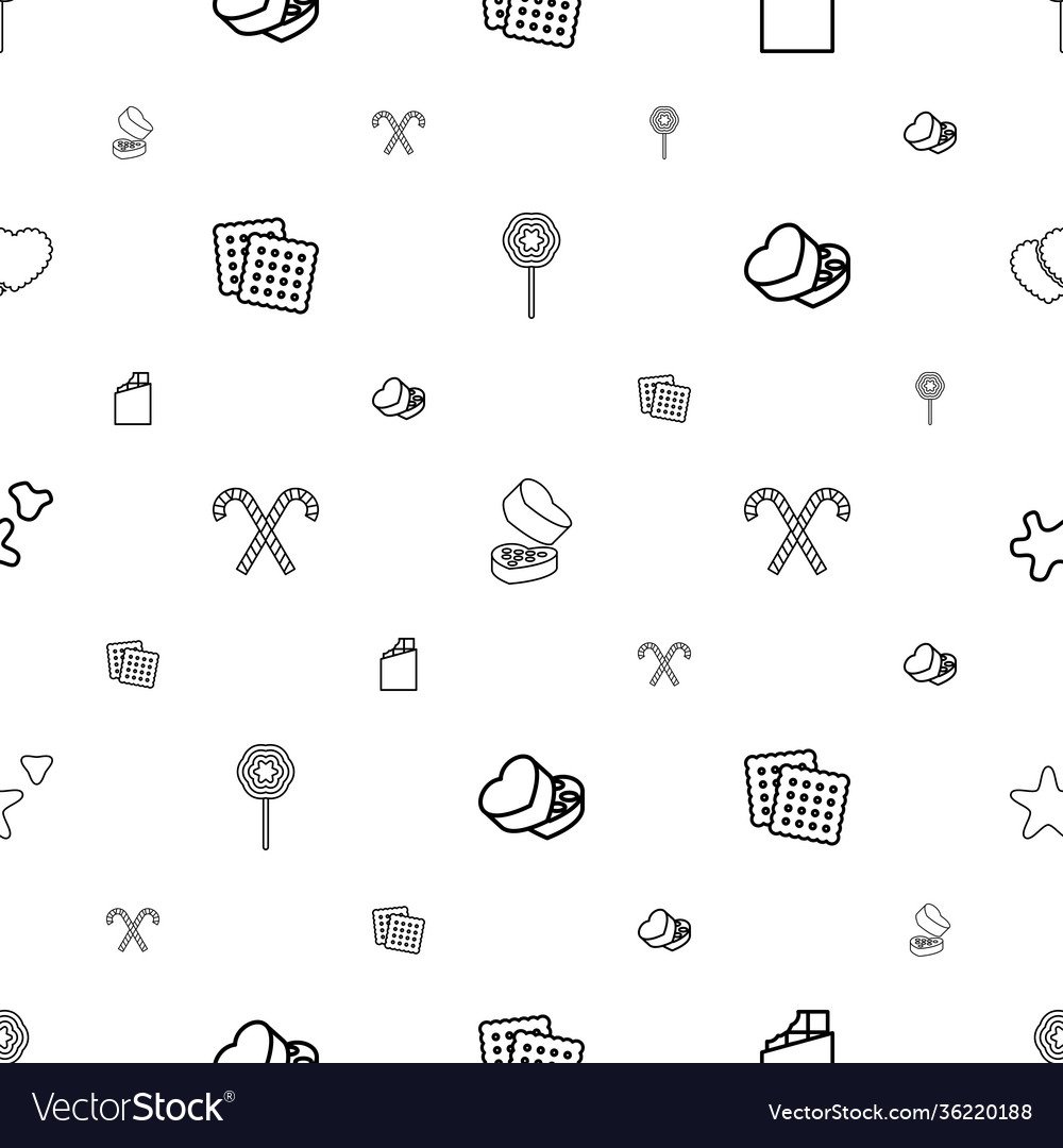 Candy icons pattern seamless white background