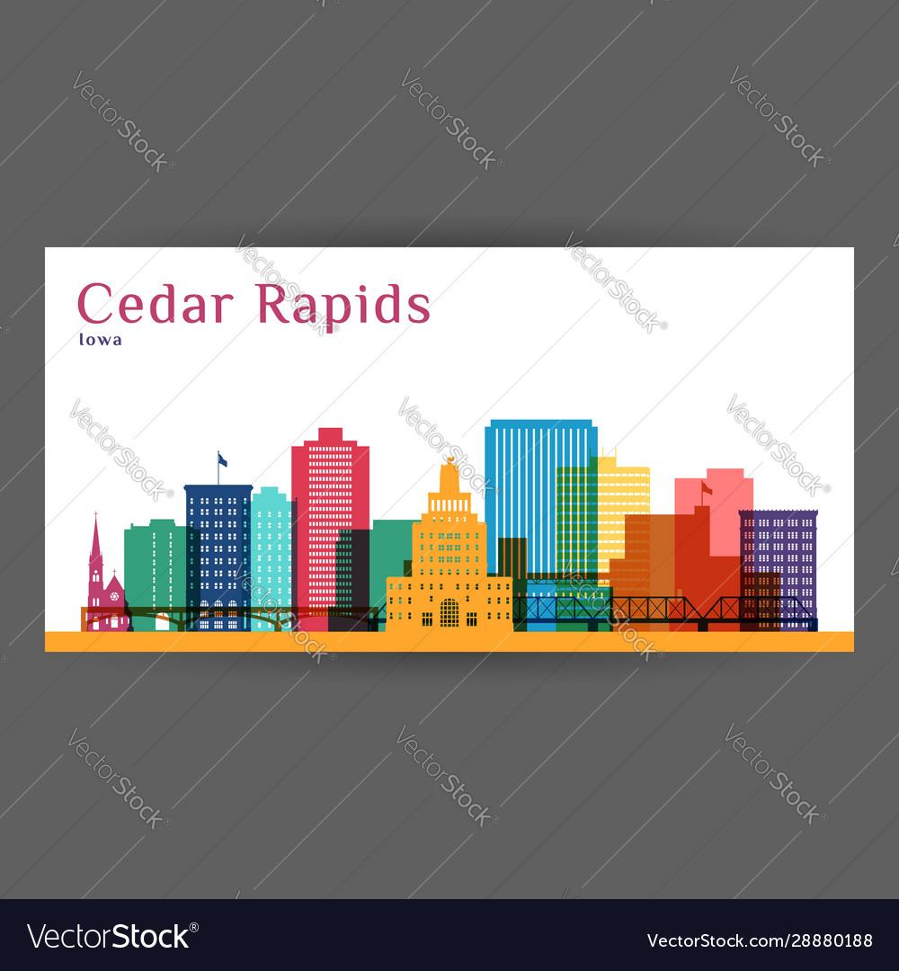 Cedar rapids colorful architecture