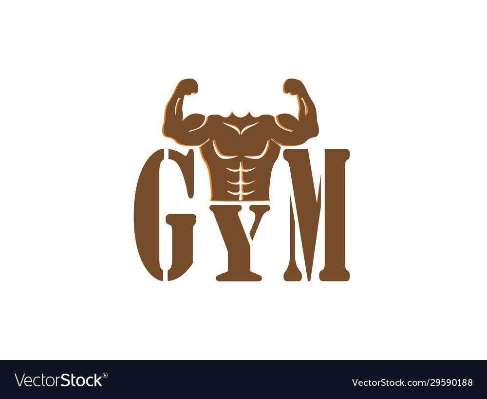 Gym bodybuilding strong body muscles icon