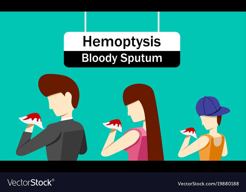 Hemoptysis Or Bloody Sputum In Design Royalty Free Vector
