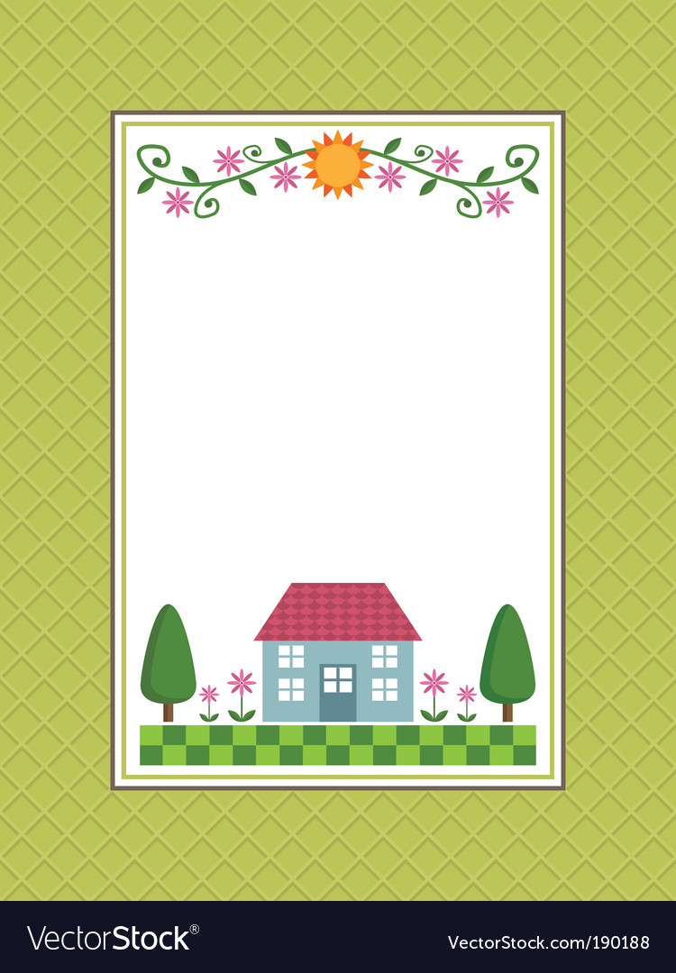 Home Sweet Home Frame Royalty Free Vector Image