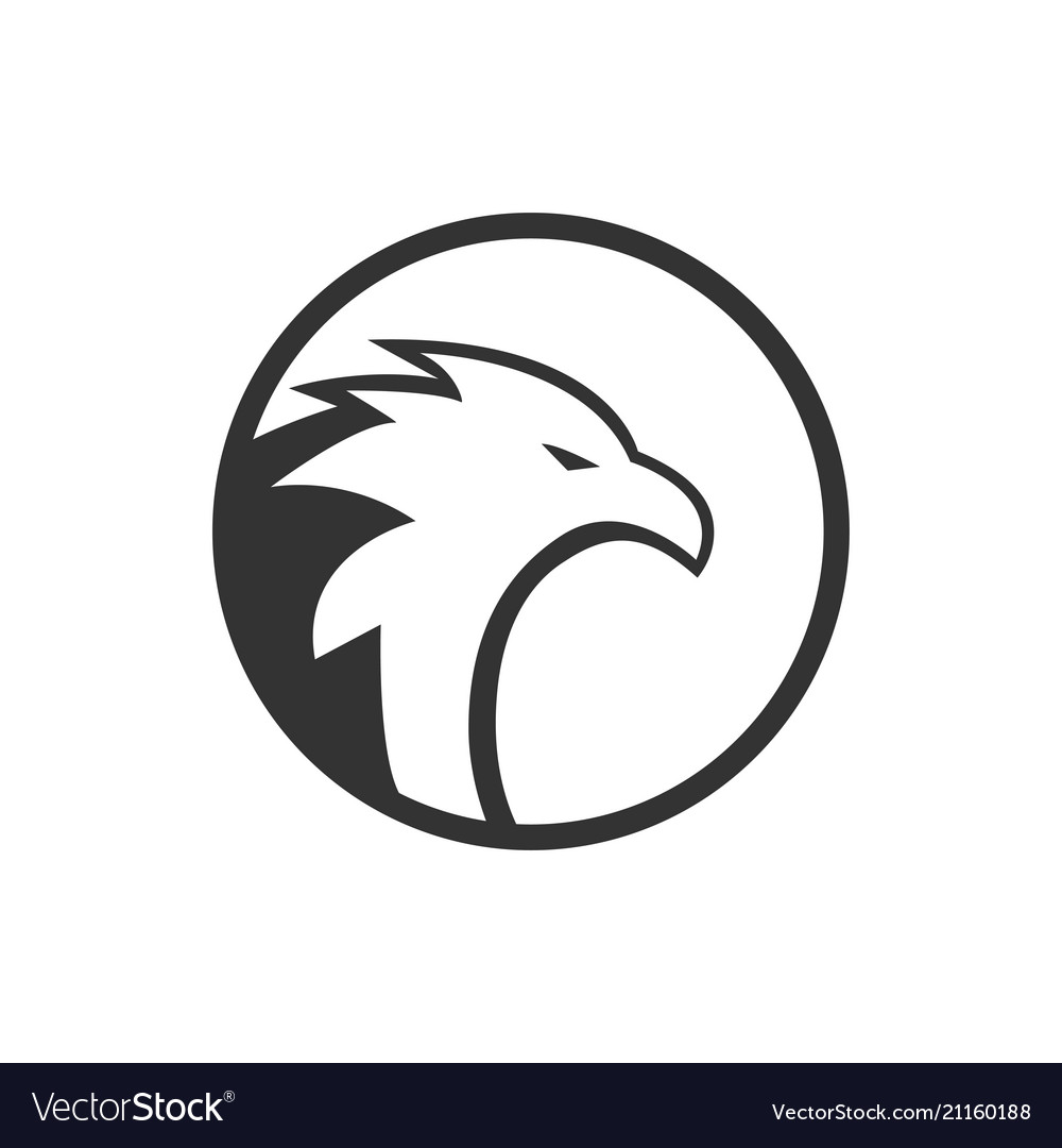 Illustration circle eagle logo concept vector