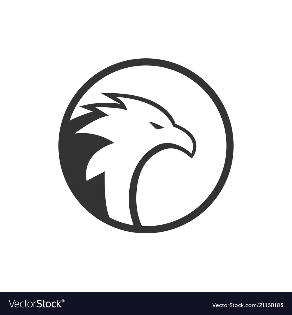 Of circle eagle logo concept