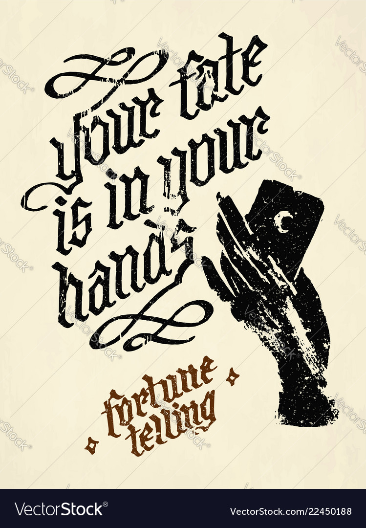 Your fate is in your hands quote