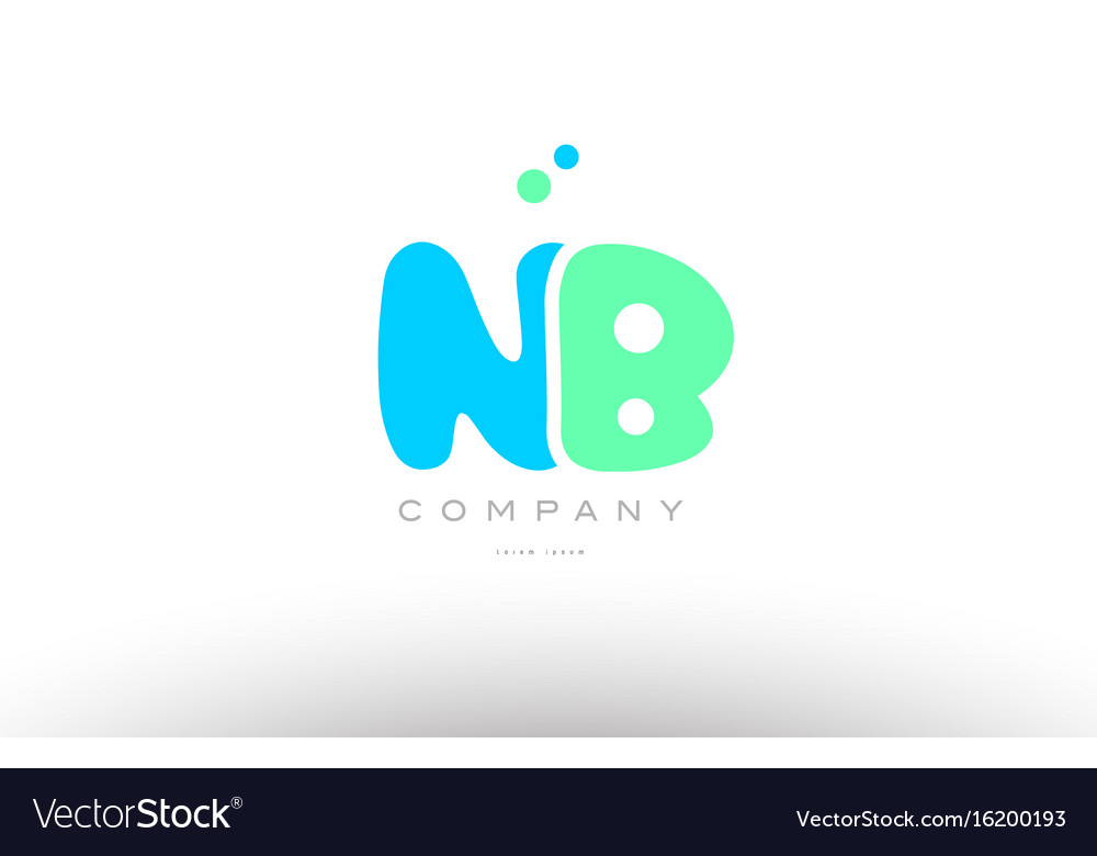 Aaaaa alphabet letter blue green logo icon design vector image