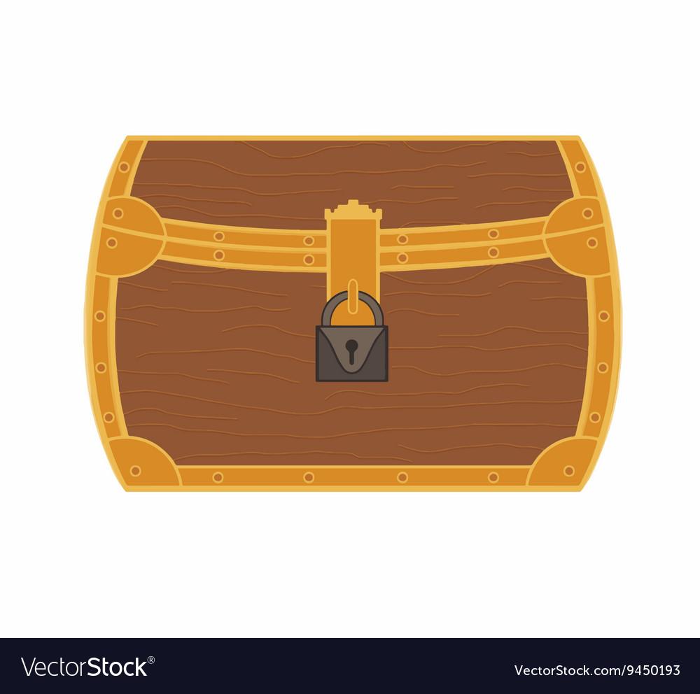 Cartoon treasure chest vector image