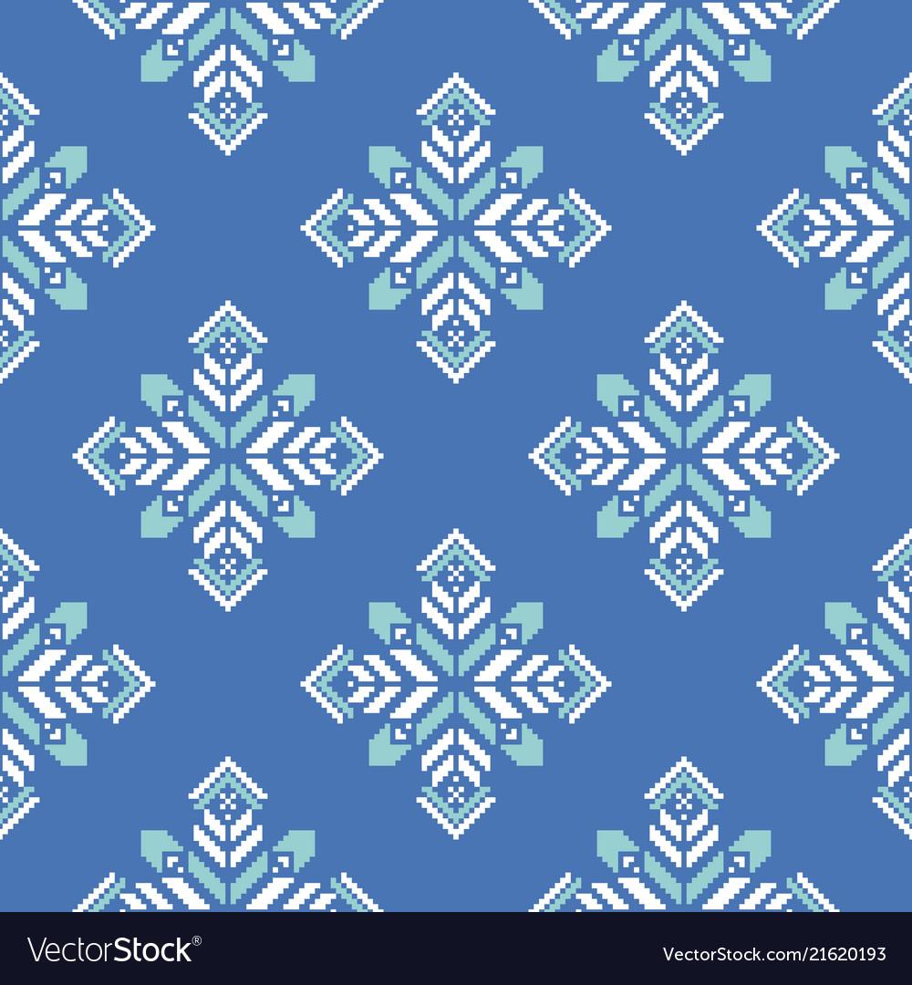 Christmas seamless pattern print with snowflakes