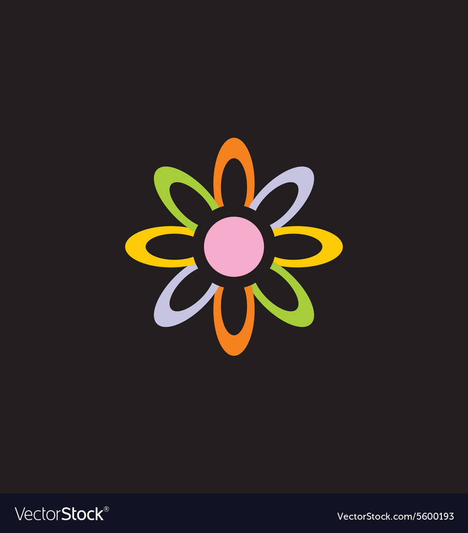 Colorful flower decorative logo