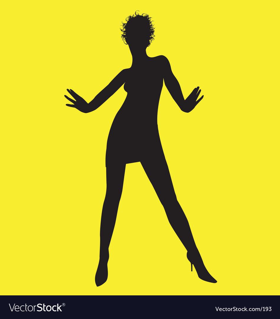 Dance pose vector image