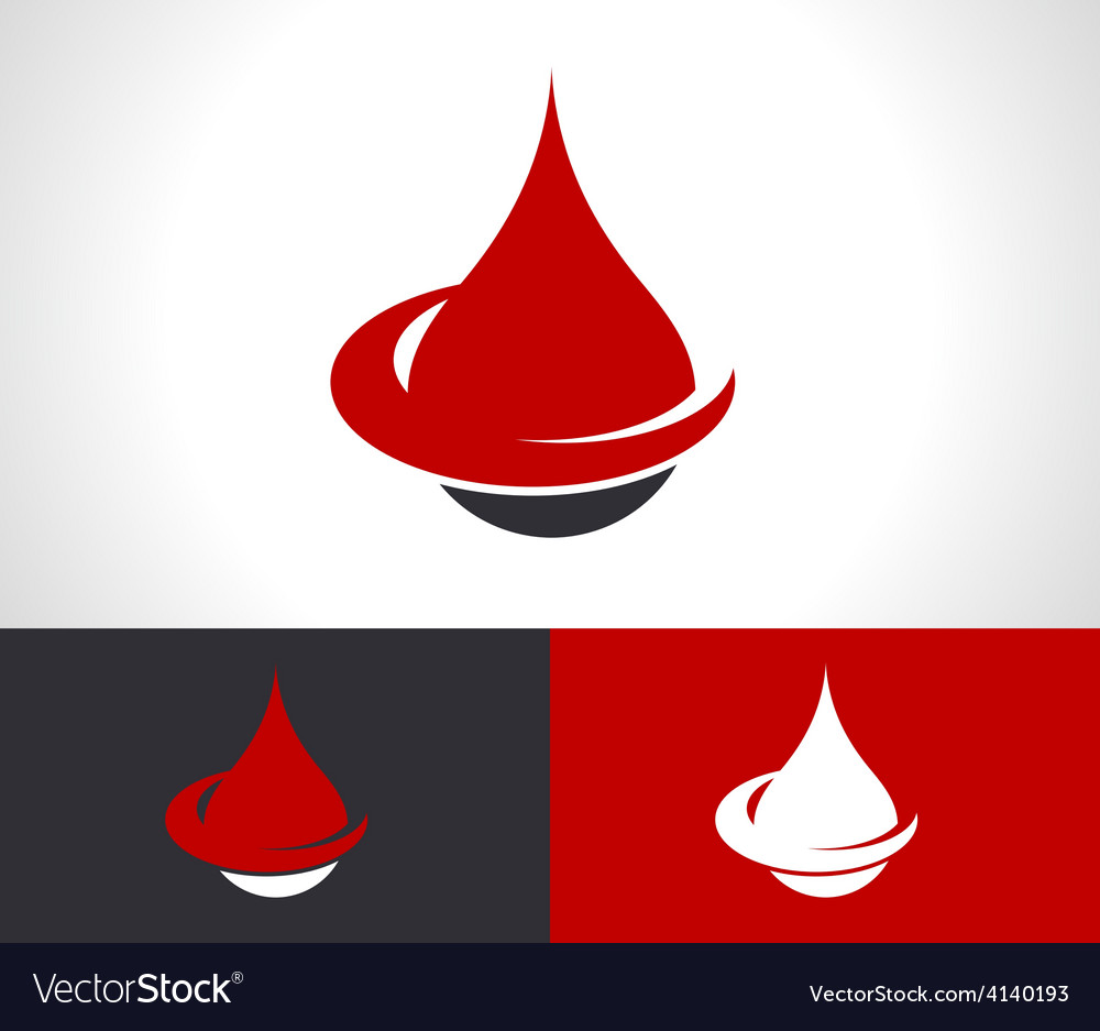 Donate Blood Drop Logo Icon vector image