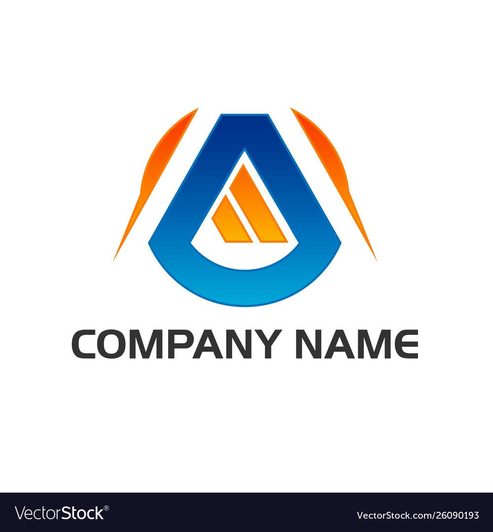 Logo icon monogram letter a