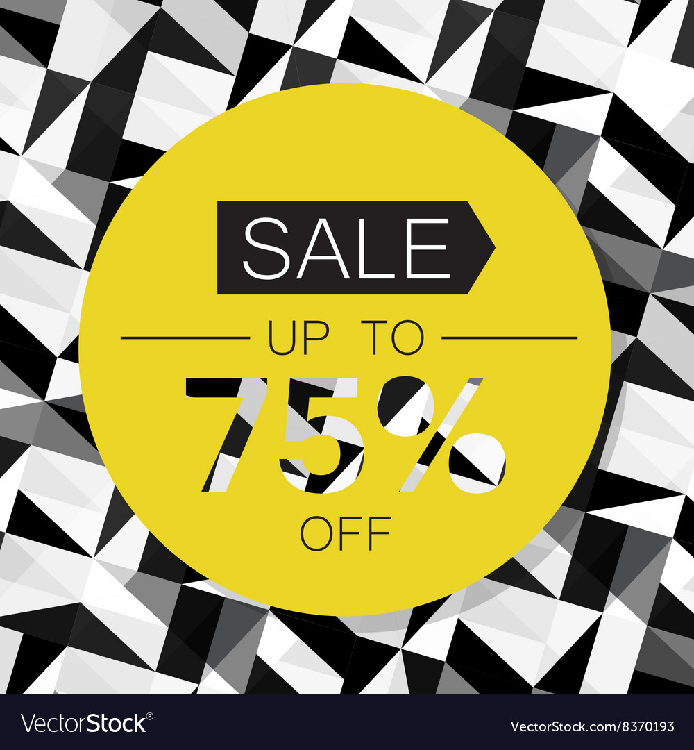 Sale Design Template on Triangle Abstract