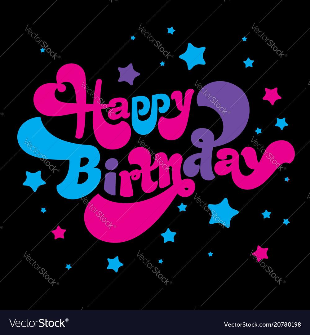 Birthday greeting card image