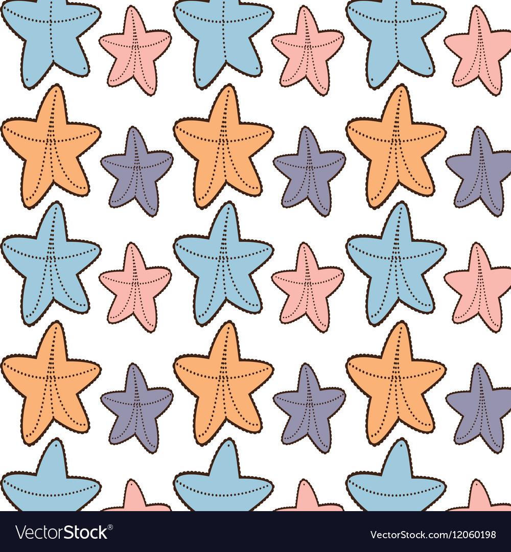 Ed starfish beach seamless pattern design